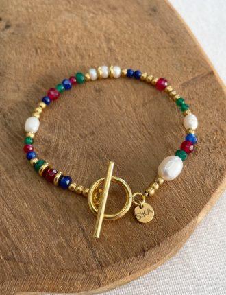 sika-bijoux-creatrice-rennes-bracelet-sofia-multi-pierres-acier-inoxydable
